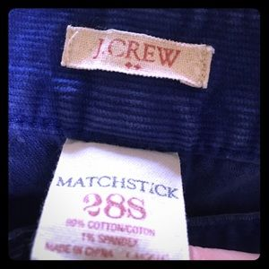 J. Crew Matchstick Royal Blue Corduroys in 28S
